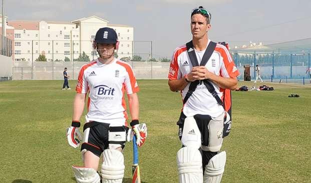 Eoin Morgan Kevin Pietersen - cropped