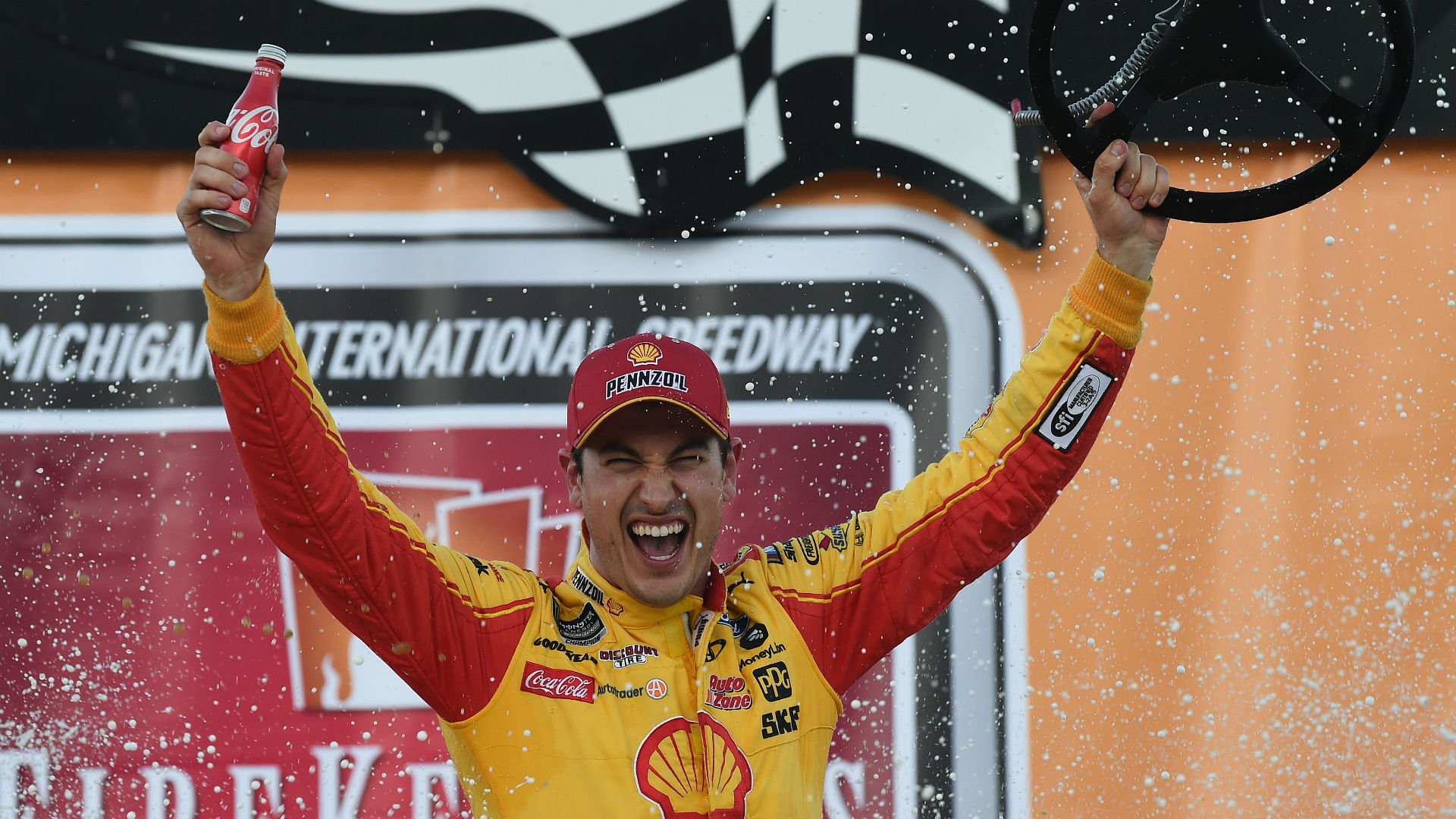 NASCAR results at Michigan: Joey Logano gets second win of season in overtime finish