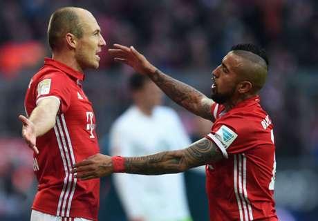 Last-gasp Vidal & Robben seal win
