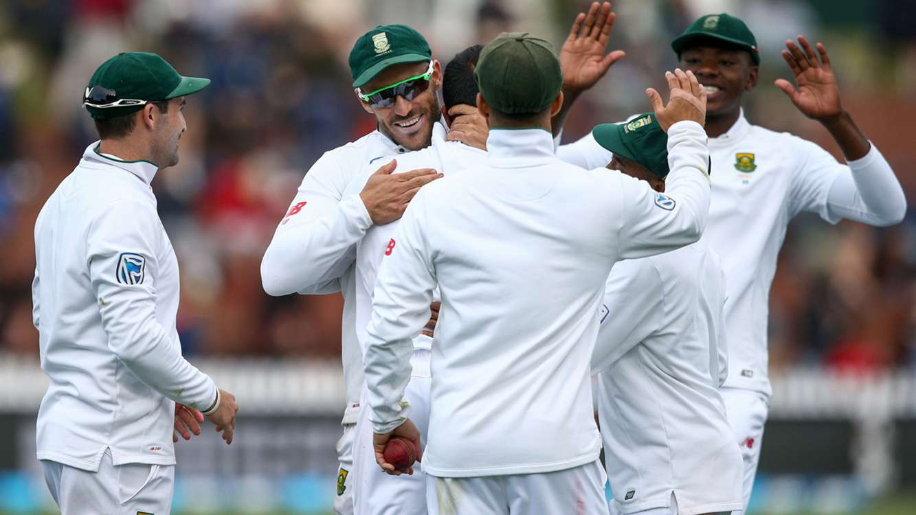 Maharaj leads South Africa to comprehensive win