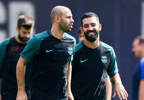 Mascherano, Arda out for Barcelona