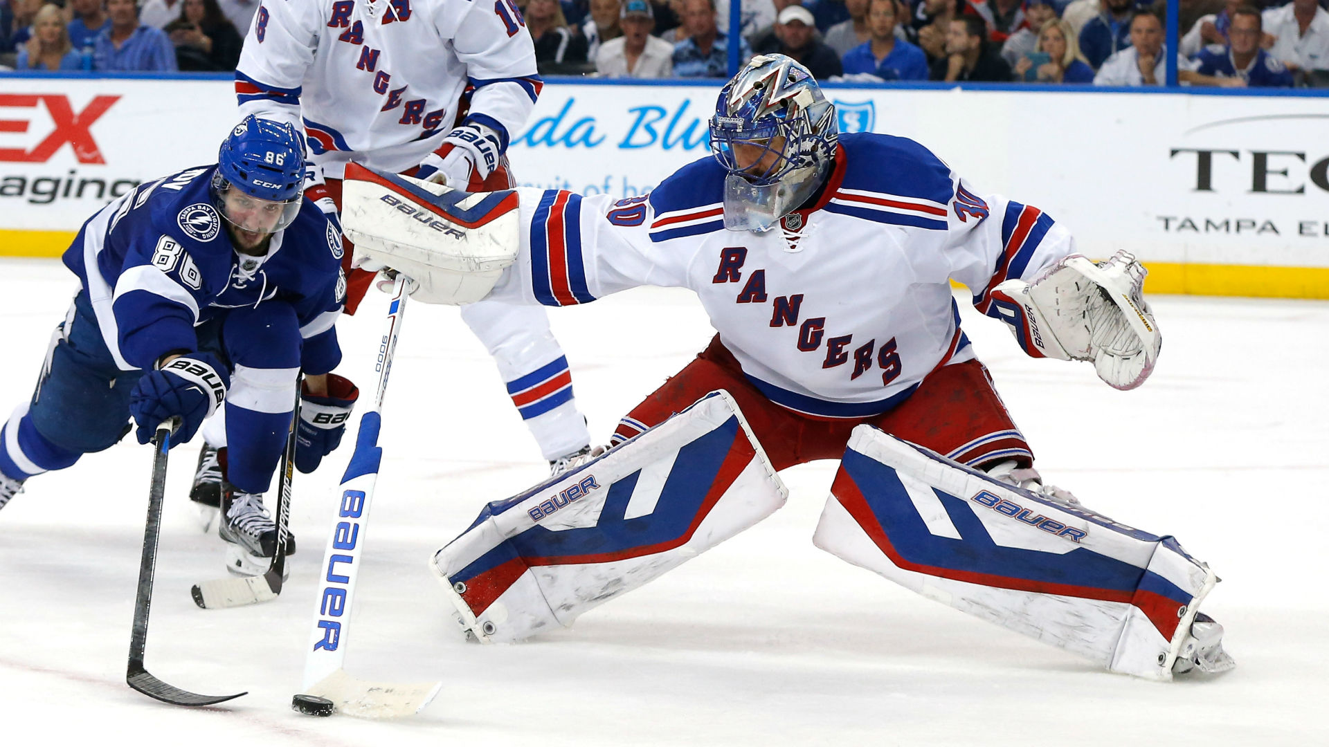 Eastern Conference finals: Top line, Henrik Lundqvist shine as Rangers rout Lightning to force Game 7