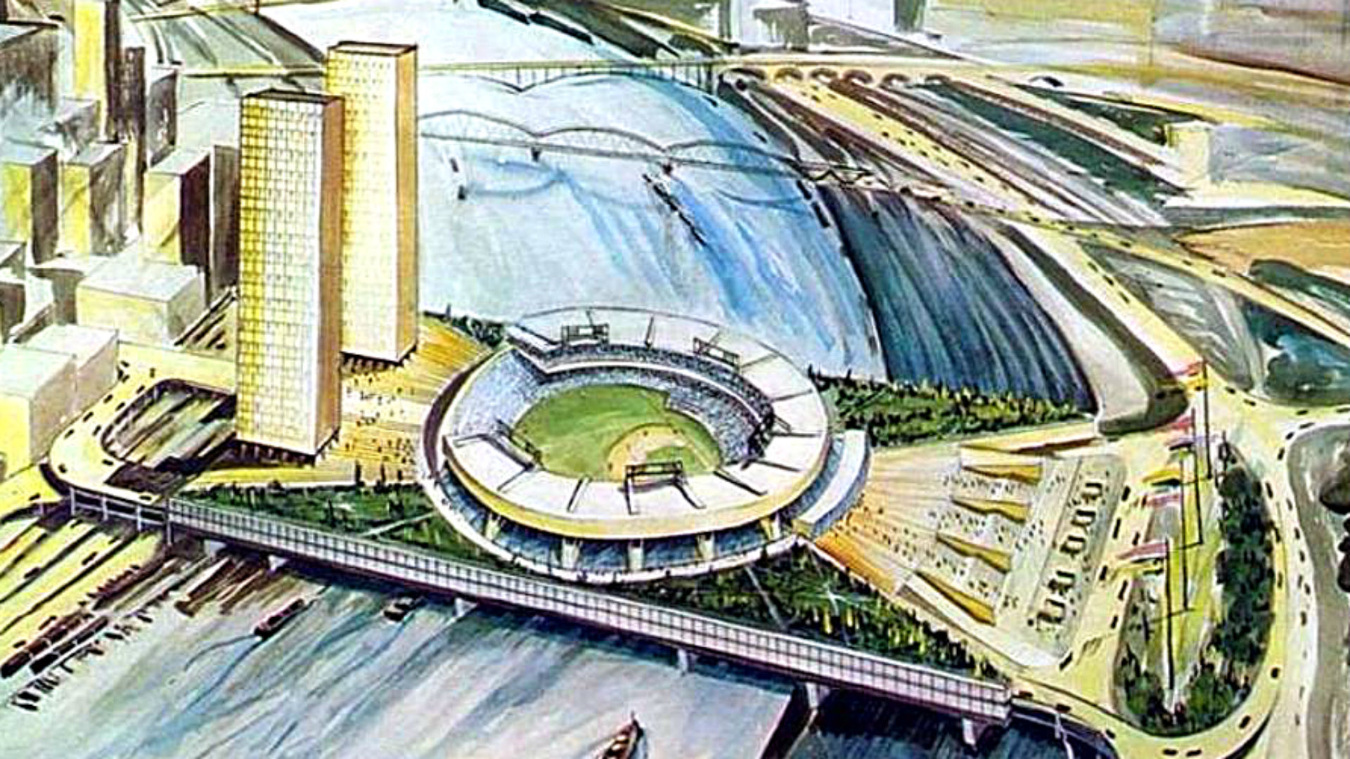 Pittsburgh Once Planned A Jetsons style Stadium On Top