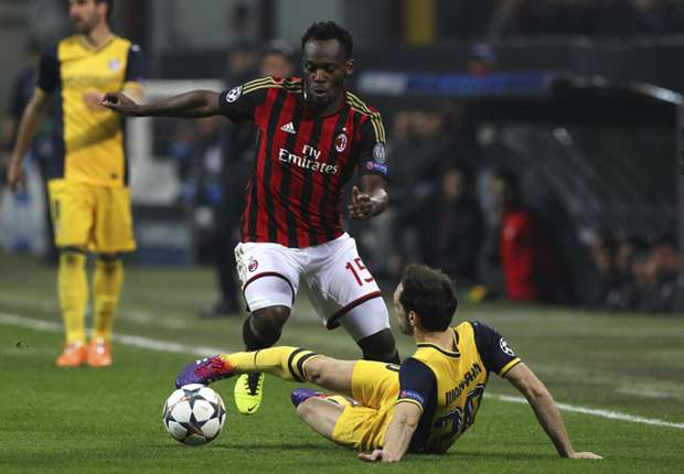 AC Milan midfielder Essien ruled out for at least two games