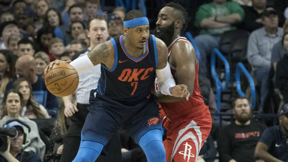 James Harden says Carmelo Anthony will 'be a good fit' with Rockets
