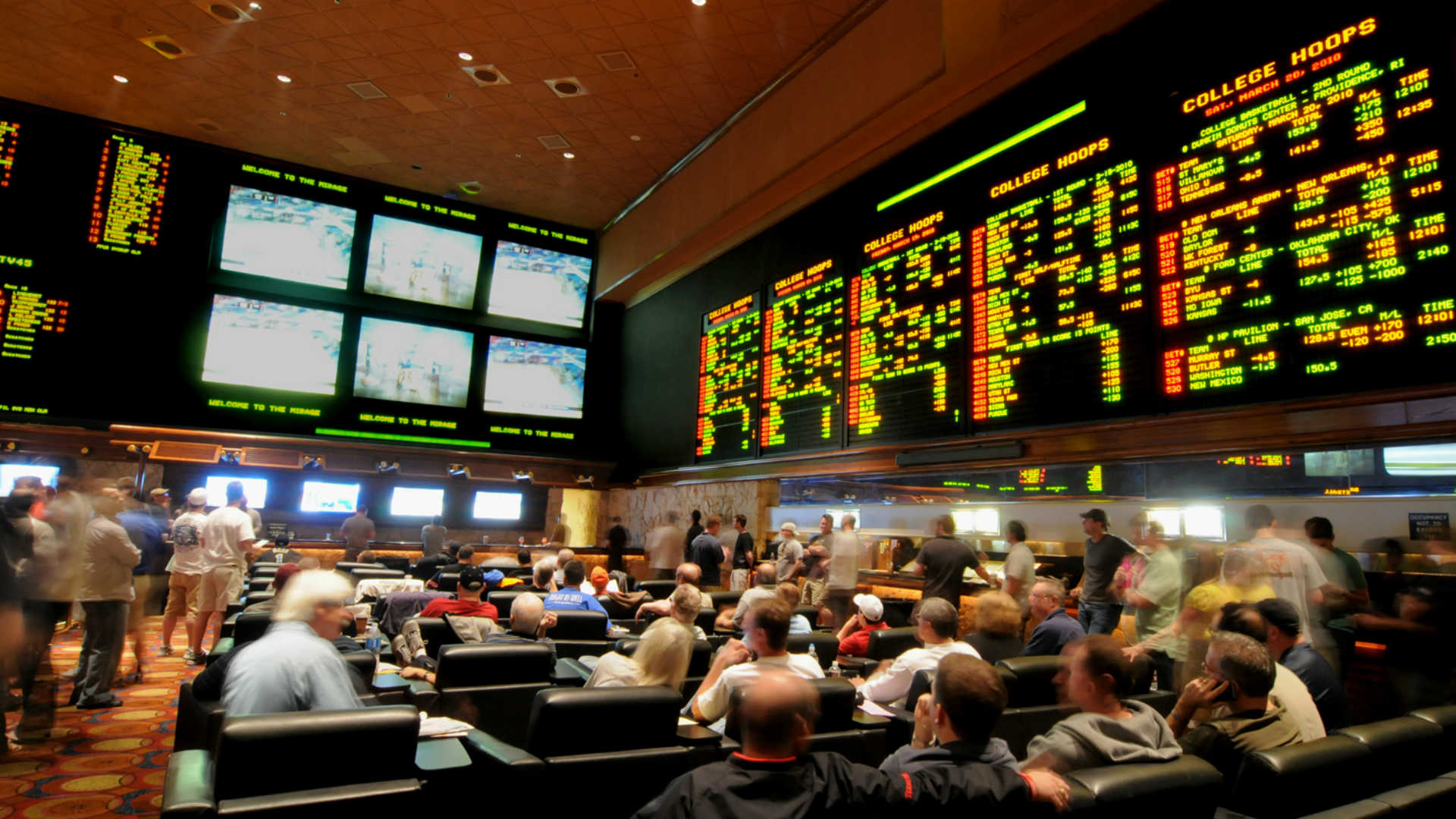 The NCAA Tournament draws fans to a Las Vegas casino.