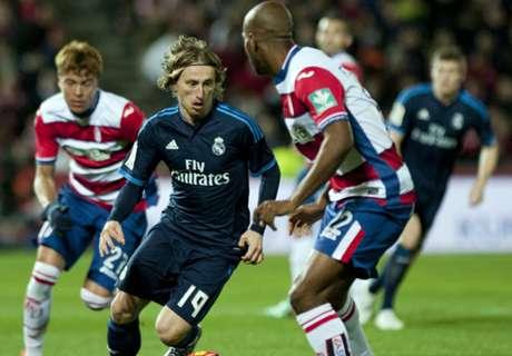 Granada 1-2 Real Madrid: Modric stunner
