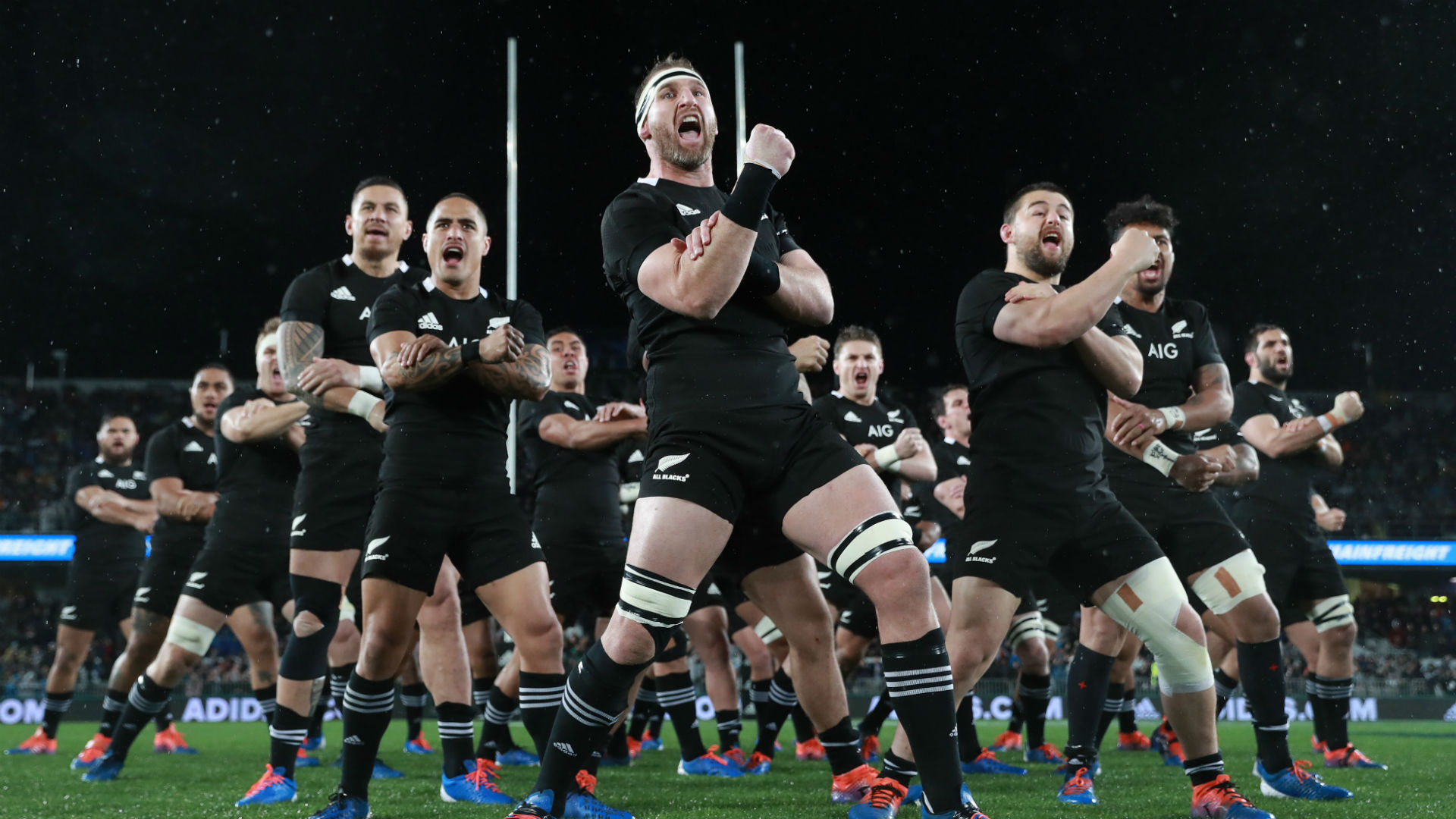 New Zealand perform the Haka before facing Australia