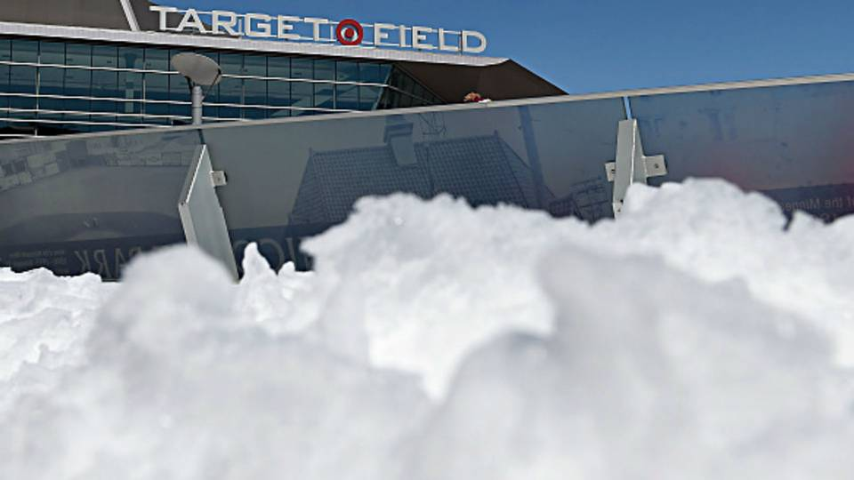 Target Field snow