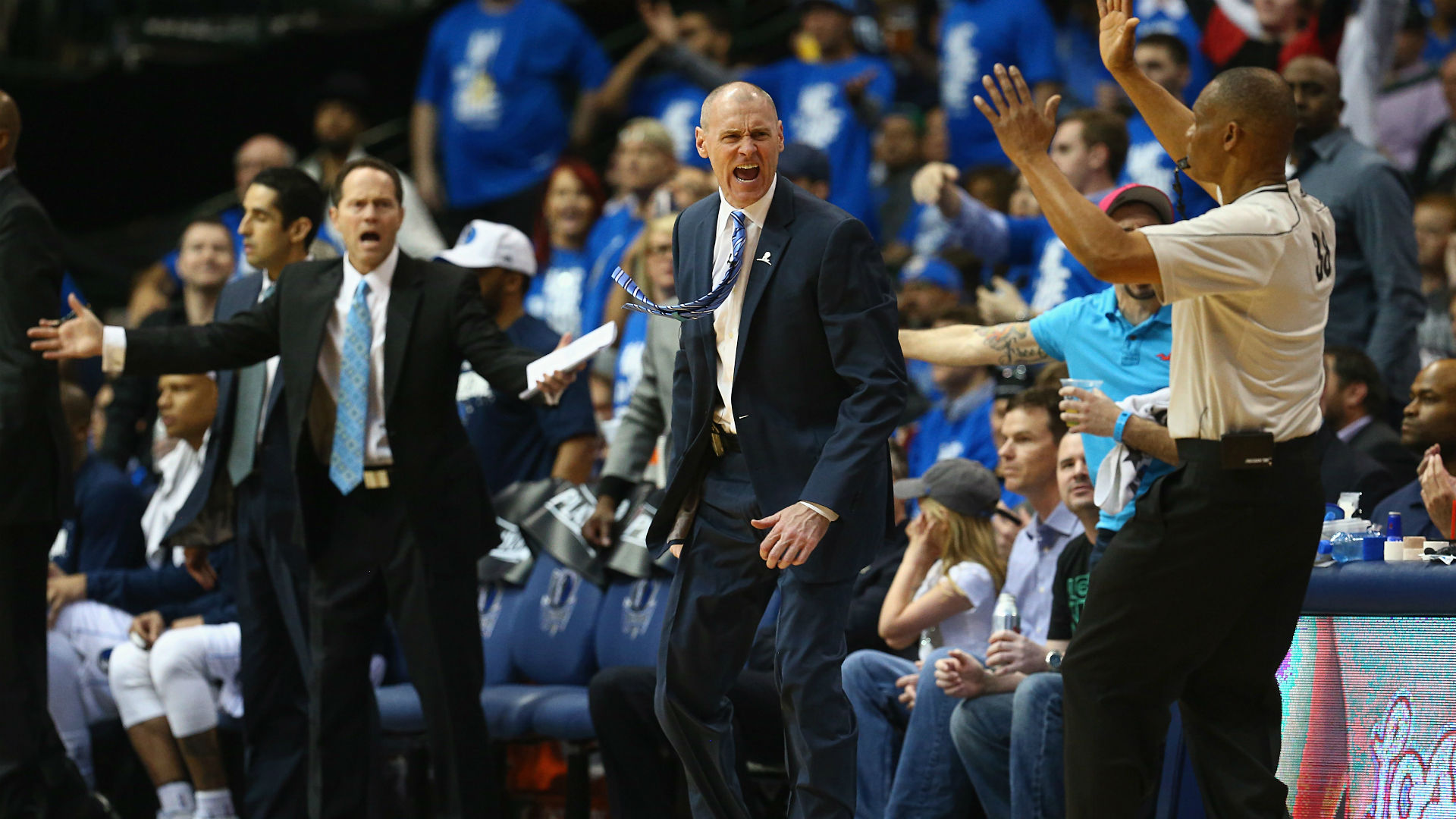 Mavs coach Rick Carlisle: Officials must get game 'under control'