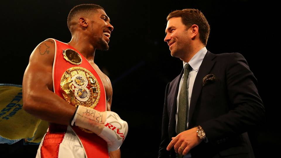 Anthony Joshua Eddie Hearn - cropped