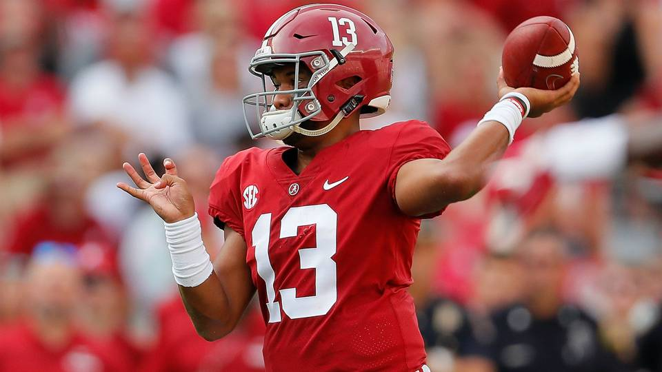 Mississippi State Qb Injury Video >> Tua Tagovailoa injury update: Alabama QB (knee) to play against The Citadel | NCAA Football ...