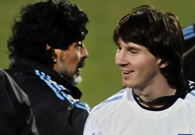 Maradona: Messi played better for me than Sabella