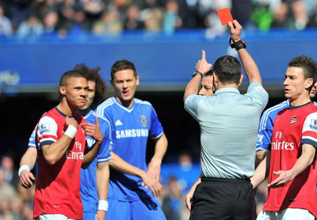 Marriner 'knocked for six' by Arsenal red-card blunder