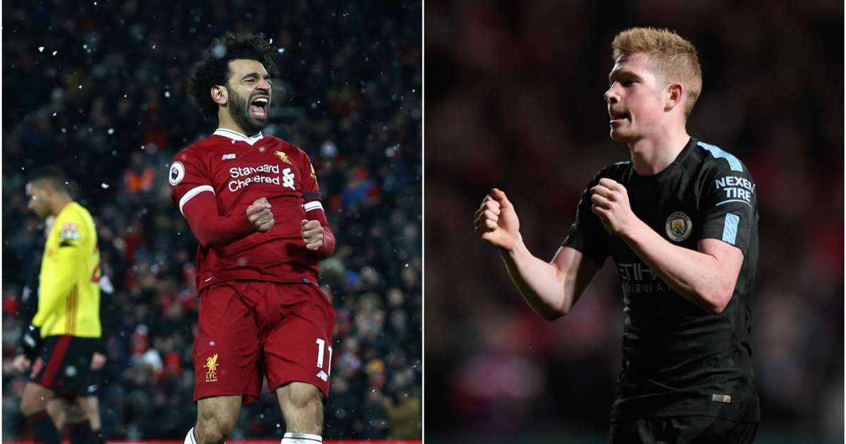 mohamed salah and kevin de bruyne lead the pfa players' player