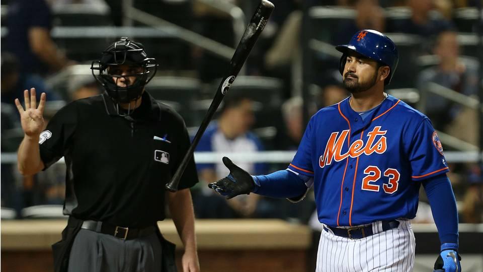 Mets release first baseman Adrian Gonzalez, recall Dominic Smith