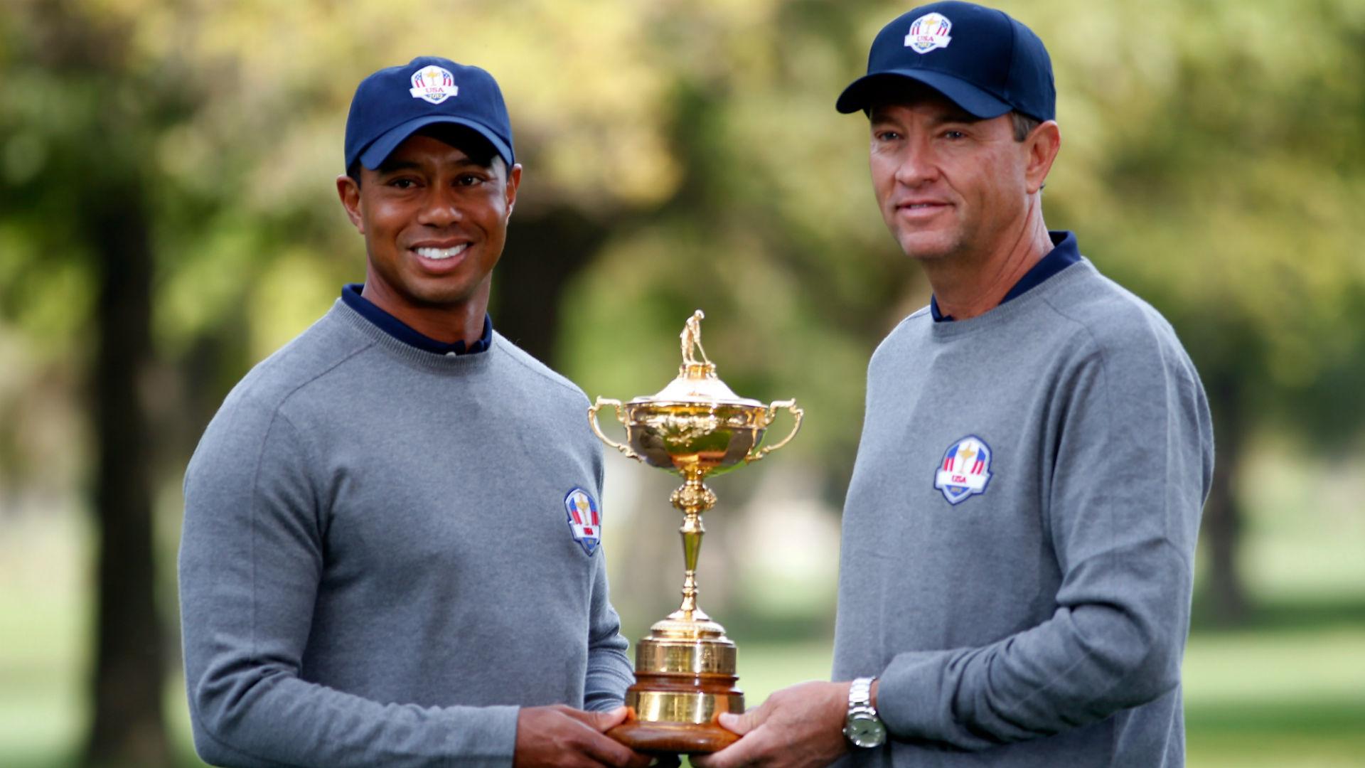 Tiger Woods Davis Love III - cropped