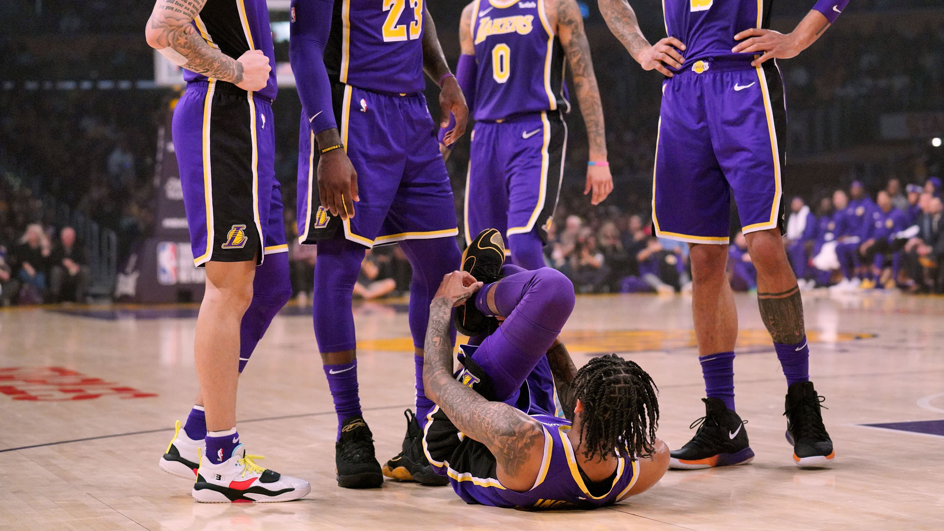 Brandon Ingram injury update: X-rays on ankle negative, Lakers F to be examined Thursday