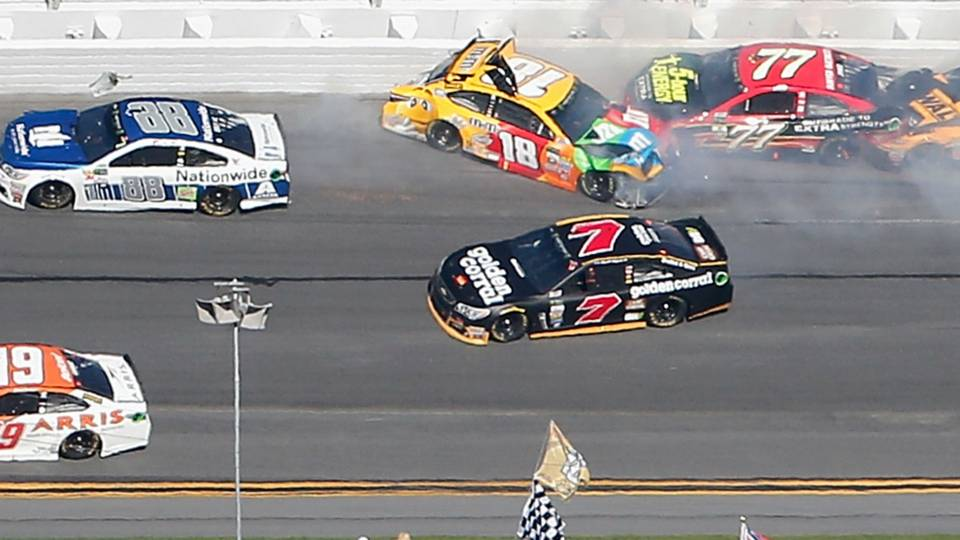Watch: Daytona 500 wreck ends race for Kyle Busch, Dale Earnhardt Jr ...