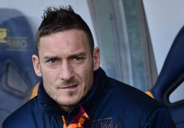 L'attaccante della Roma Francesco Totti