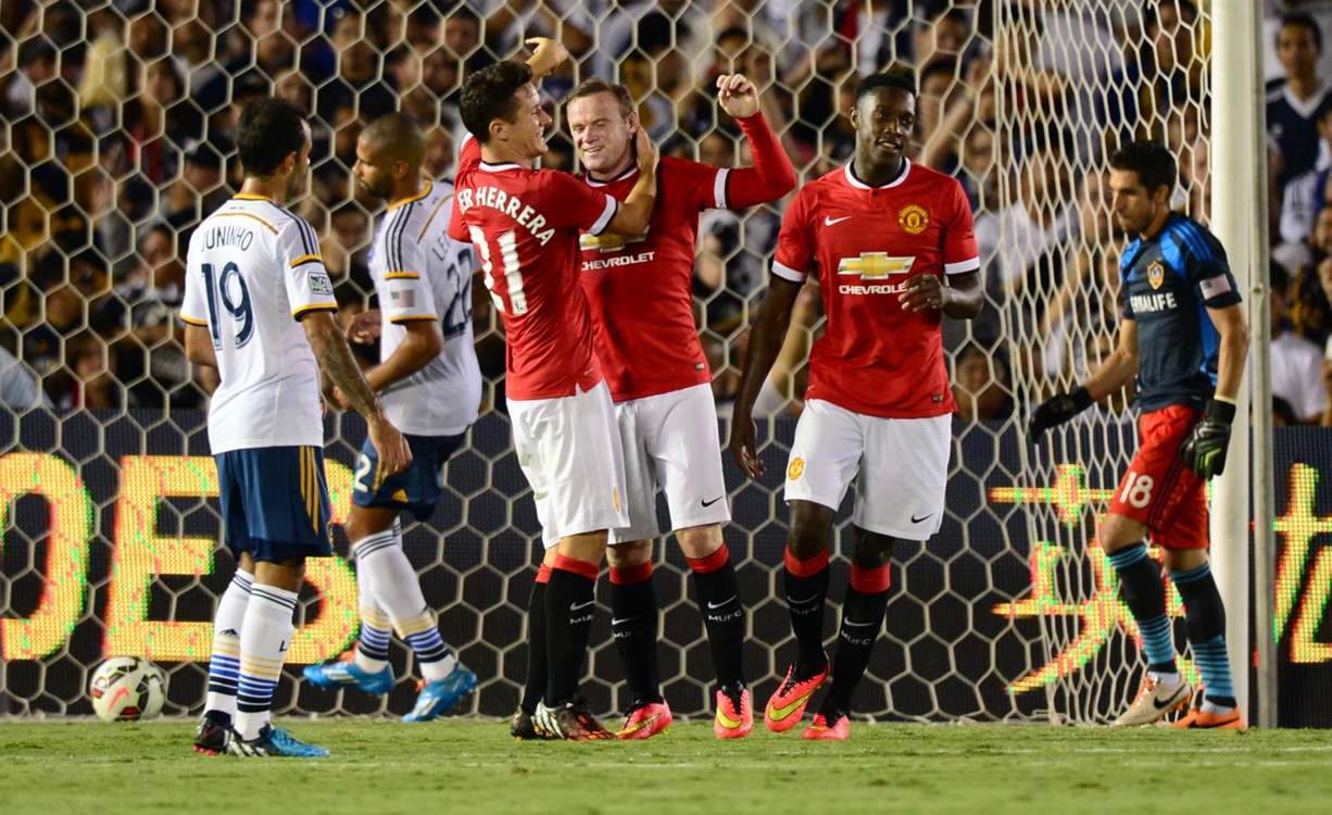 Wayne Rooney Rugby United make winning start under Van Gaal