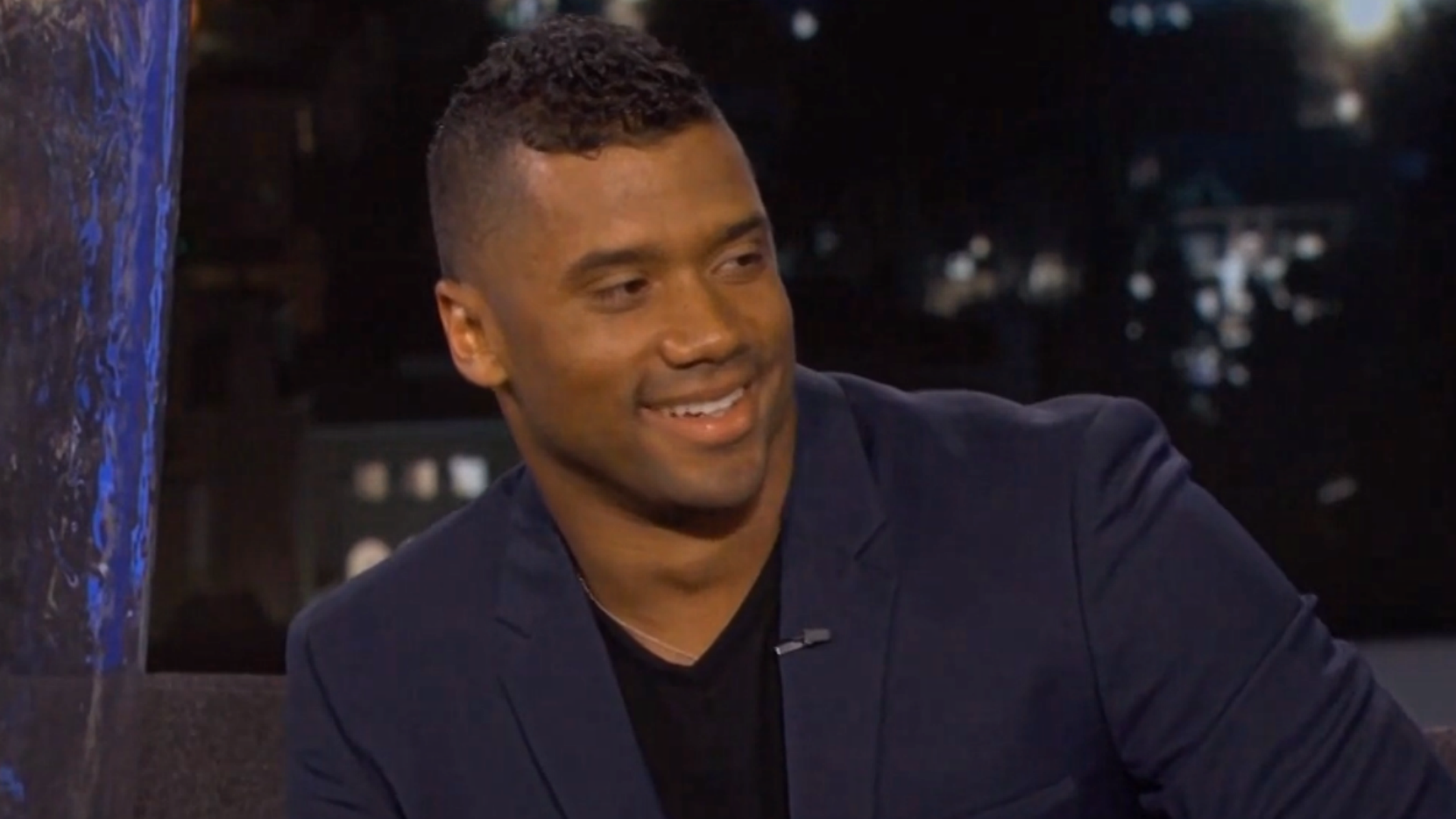 Russell Wilson uses dirty joke on Jimmy Kimmel Live!