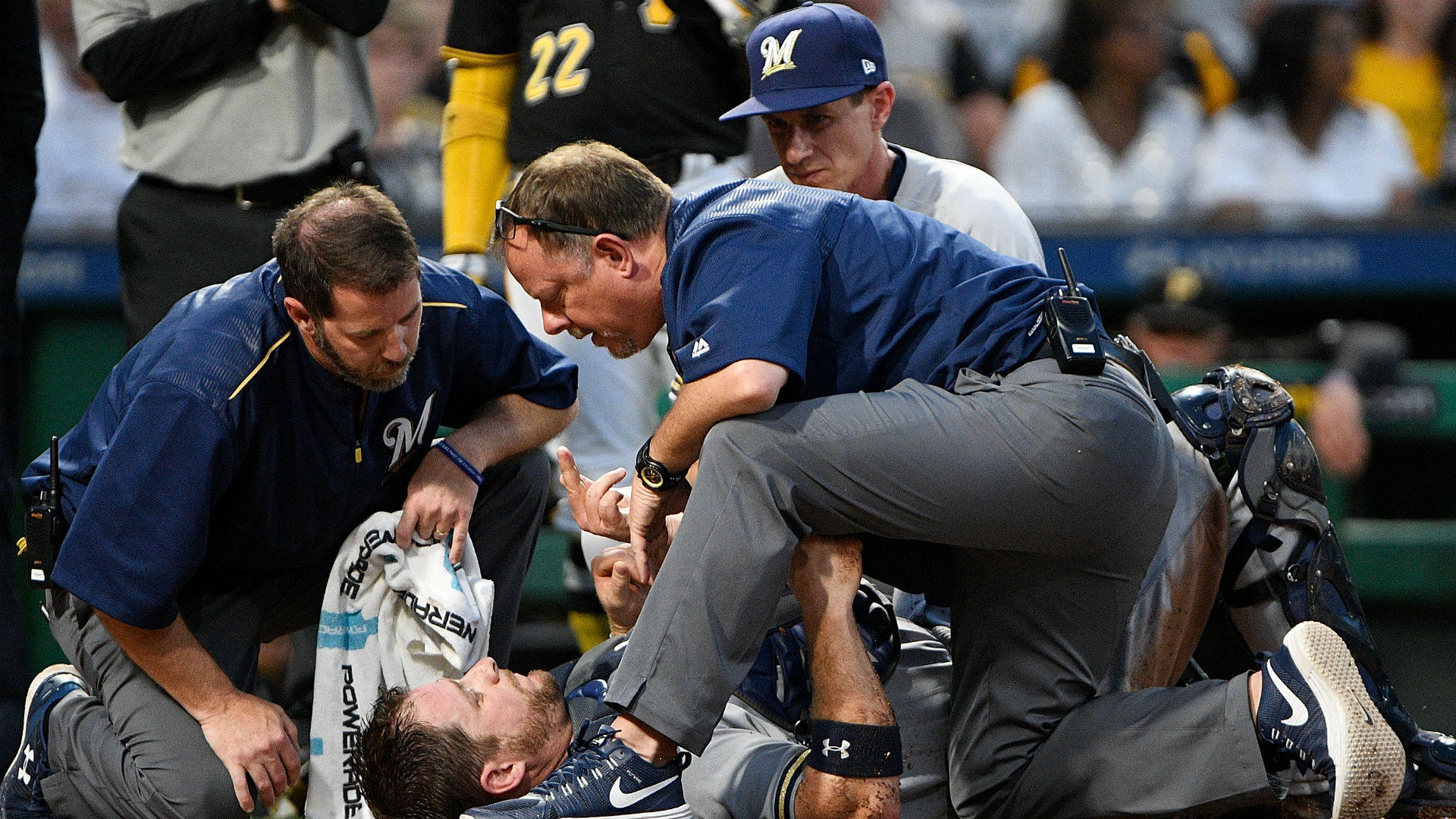 Brutal home plate collision a bad break for Vogt, Brewers and Major League Baseball