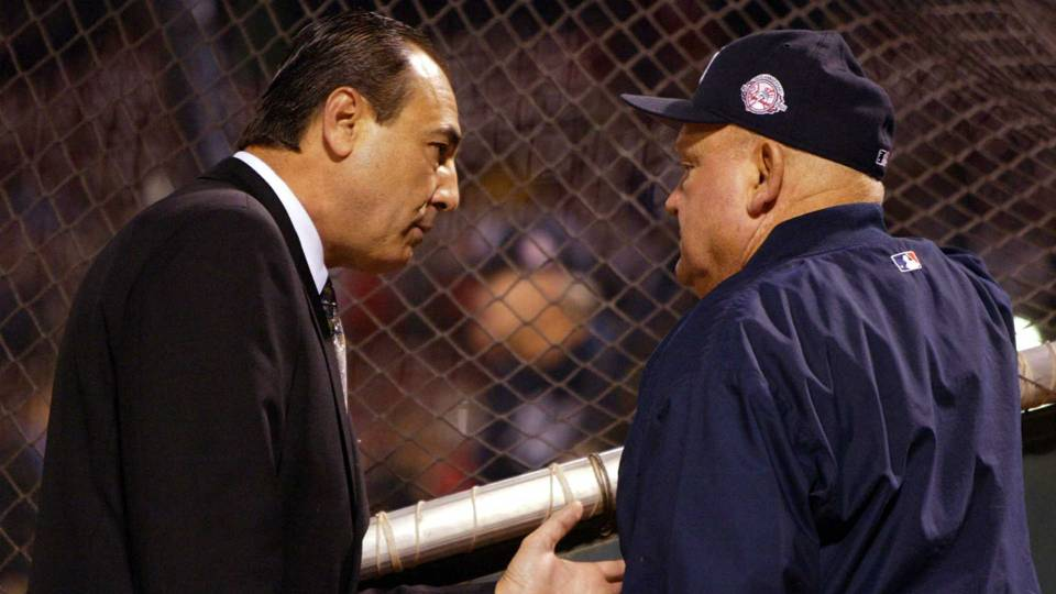 Steve Palermo, left, with Don Zimmer in 2003