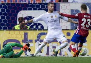 Sergio Ramos challenges Luciano Vietto