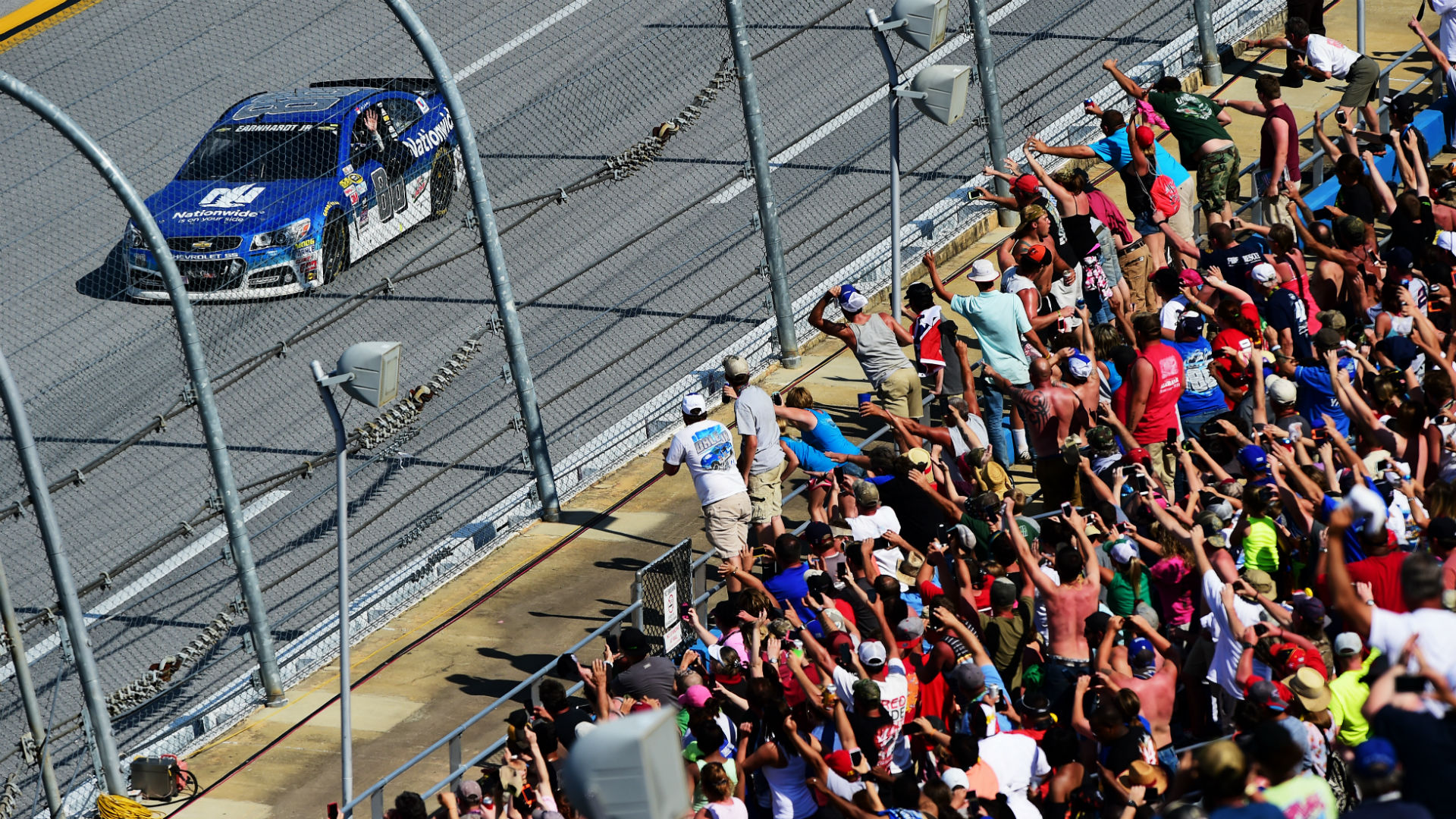 Stenhouse Jr. Drives To First NASCAR Sprint Cup Series Win At Talladega