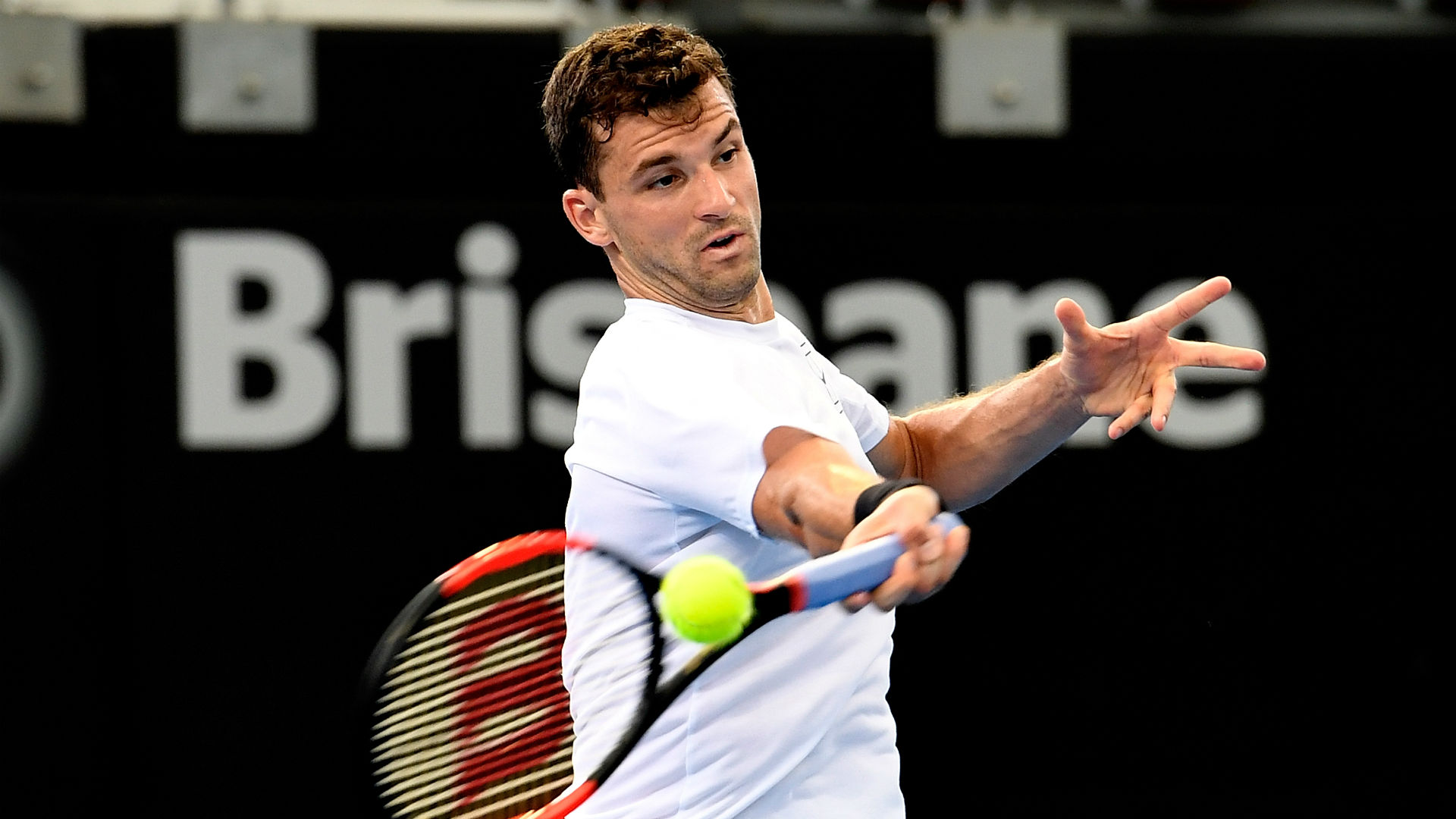 Dimitrov begins Brisbane title defence with tough win