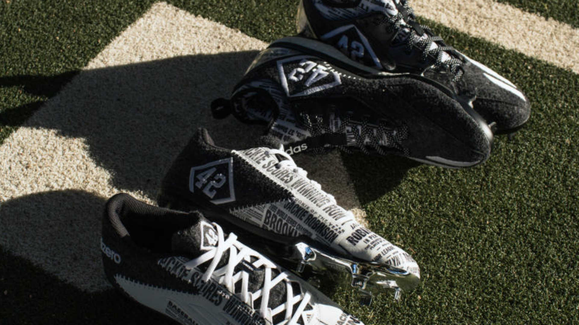 Jackie Robinson tribute spikes
