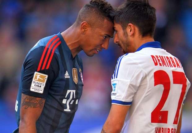Bayern Munich defender Jerome Boateng (left)