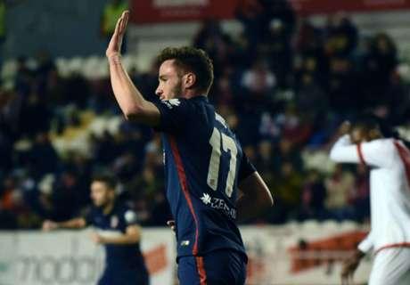Rayo 1-1 Atletico: Saul equalizer
