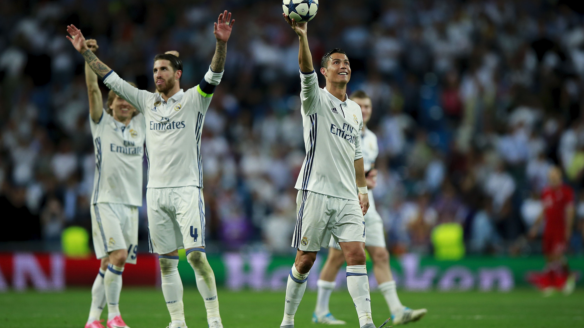 Ronaldo hat-trick fires Real into Champions League semis