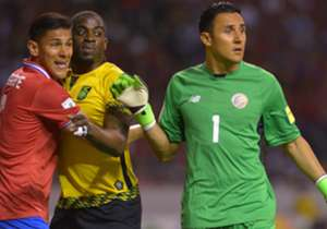 Keylor Navas in action for Costa Rica