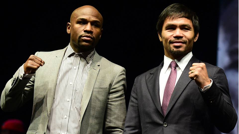 Floyd Mayweather, Manny Pacquiao in L.A.