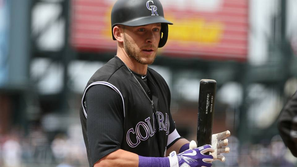 Trevor Story injury update: Rockies shortstop exits during at-bat in key Dodgers win