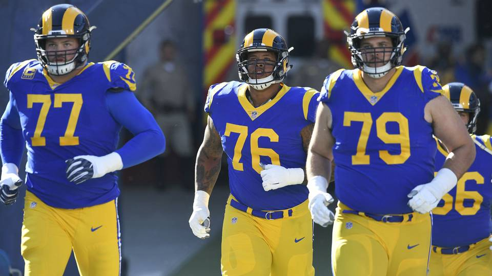 Rams offensive line