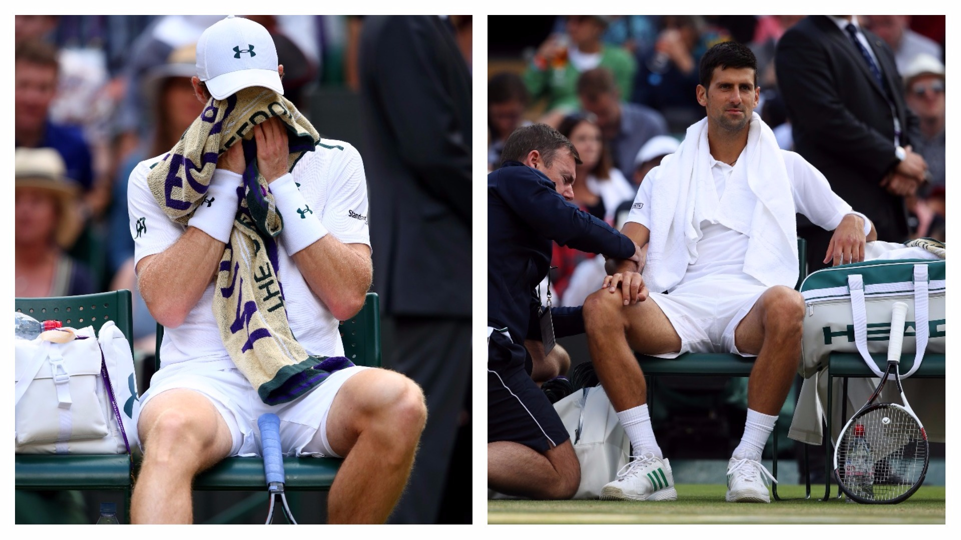 "Murray, Djokovic eliminated, Federer cruises to semis — Wimbledon"""