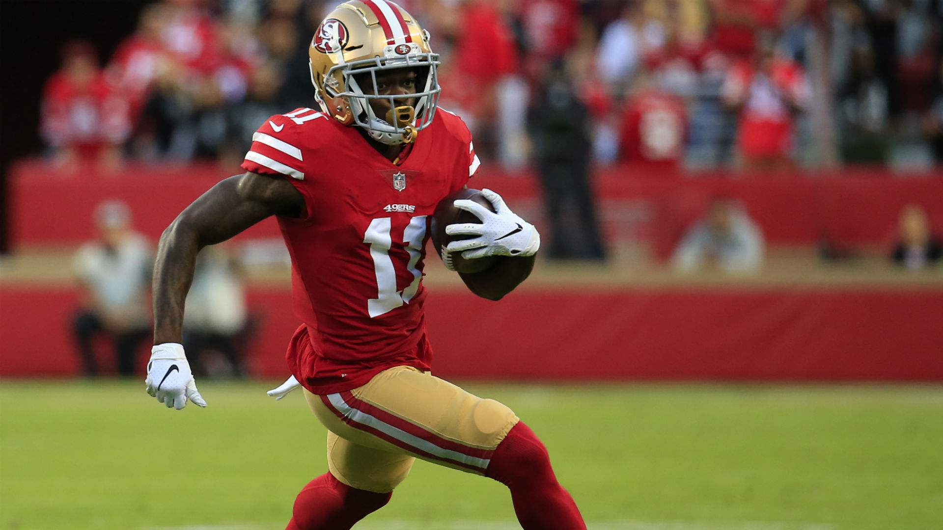 49ers' Marquise Goodwin doubtful vs. Buccaneers due to personal matter