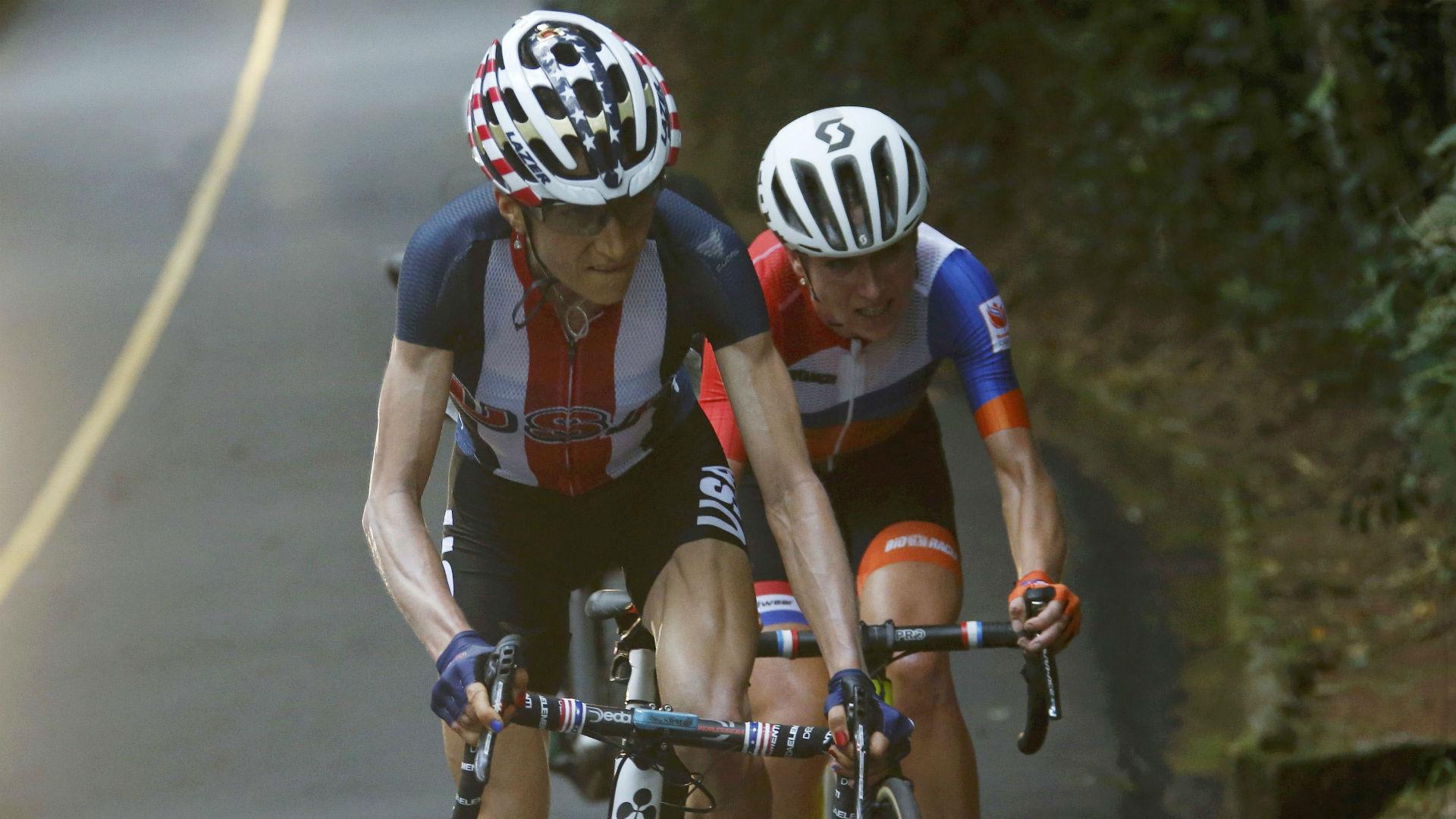 Cyclist Annemiek Van Vleuten Crashes During Olympic Race