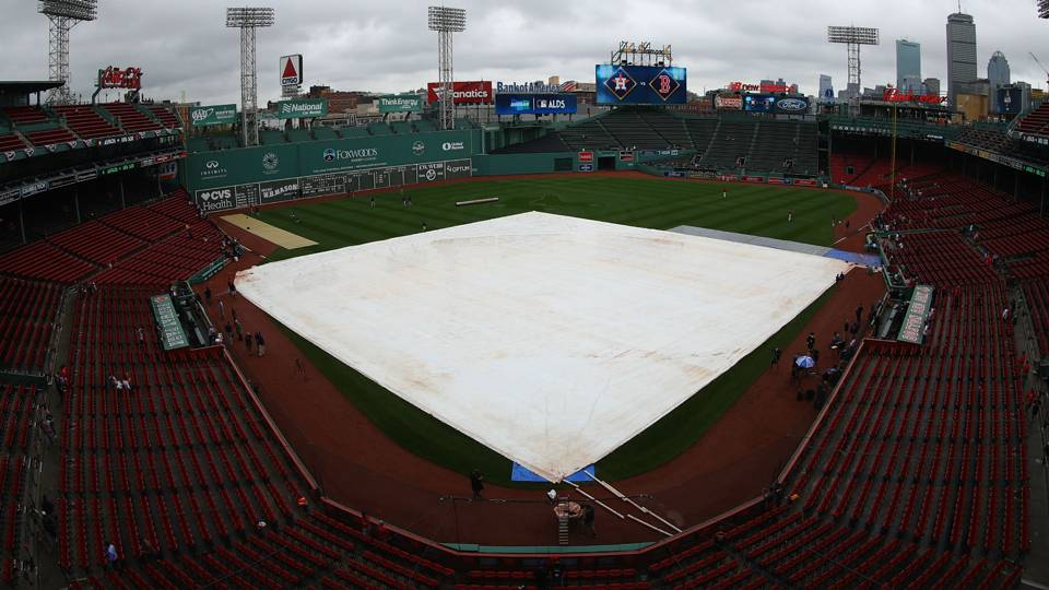 Red Sox rained out