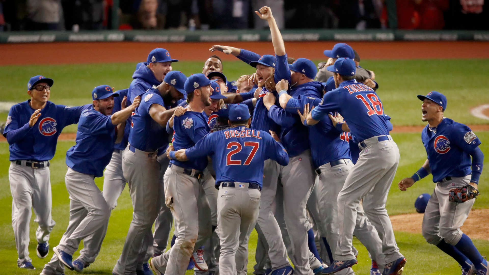 hall of famers on hand to help cubs raise world series banner mlb