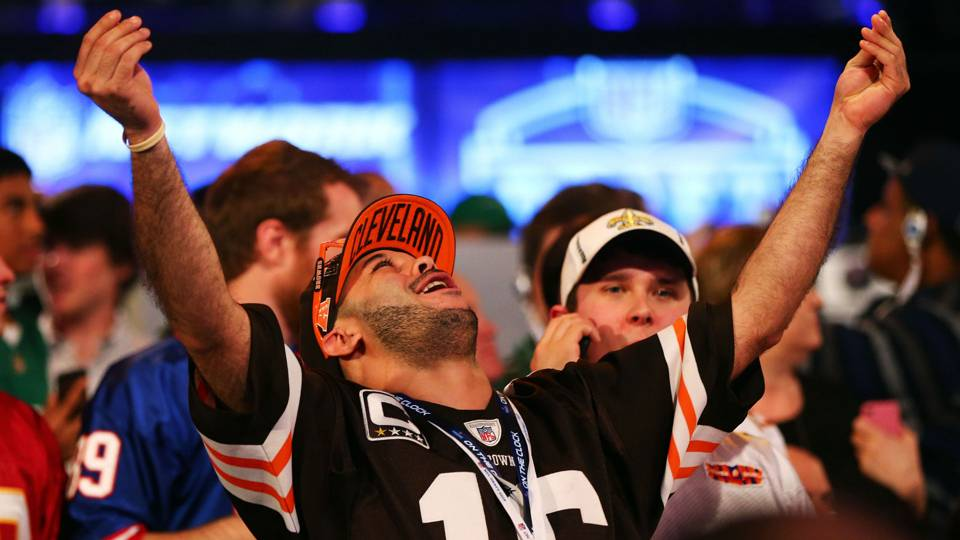 Browns fan at NFL Draft