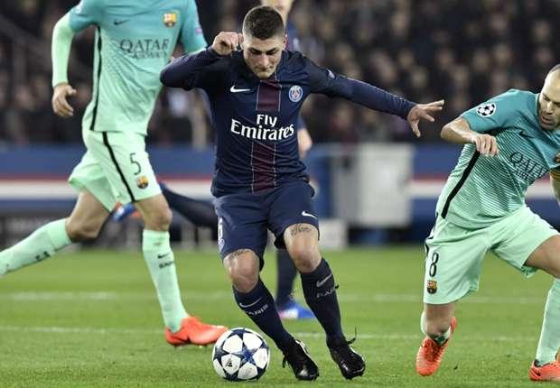 Paris Saint-Germain midfielder Marco Verratti
