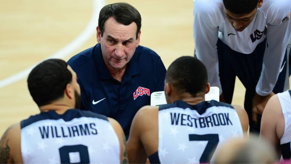 USA coach Mike Krzyzewski