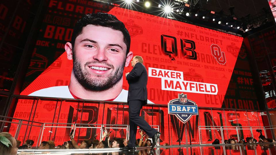 Baker Mayfield, first pick of the 2018 NFL Draft