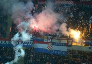 Croatia fans during a Euro 2016 qualifier with Italy