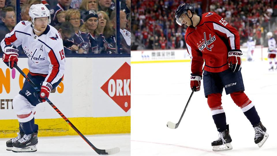 Nicklas Backstrom (left) and Andre Burakovsky